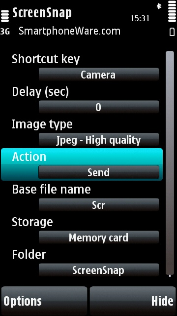 Screenshot per cellulari Symbian S60 3th e 5th ed.
